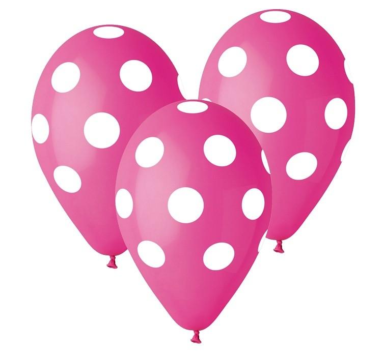 Balon grochy różowy 2 zł / szt lub 5 zł z helem