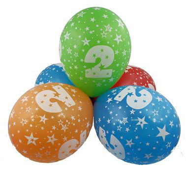 """balon """"2"""" 2 zł / szt lub 5 zł z helem"""
