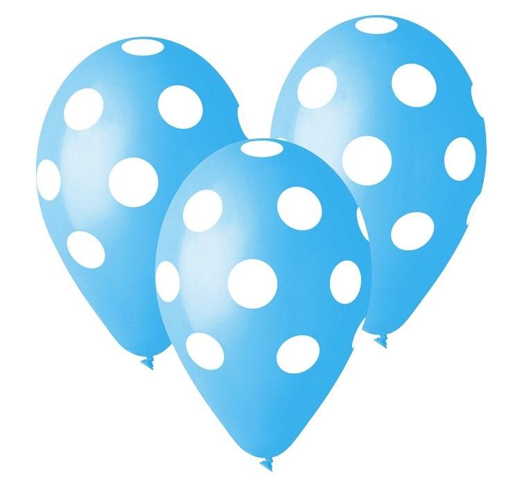 Balon grochy niebieski 2 zł / szt lub 5 zł z helem