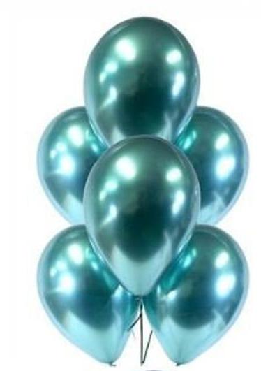 balon chromowy zielony