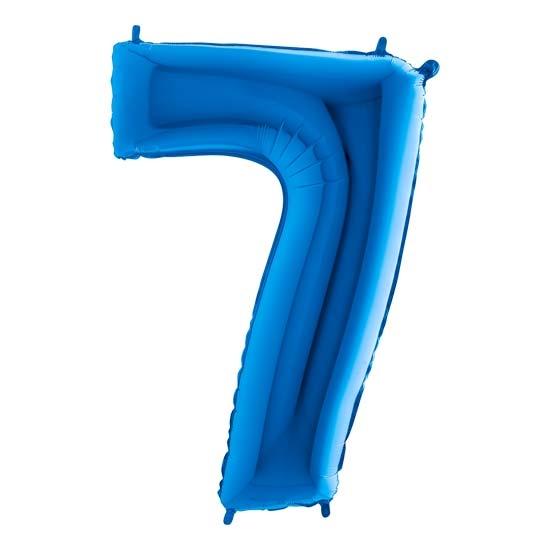 balon cyfra 7 niebieska