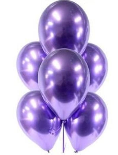 balon chromowy shiny fioletowy
