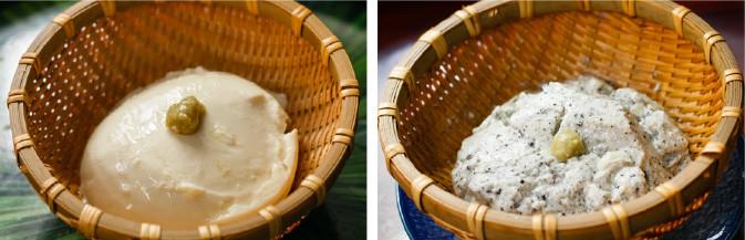 寄せ豆腐、寄せごま豆腐、寄せゆず豆腐、おから煮、油揚げの佃煮 など