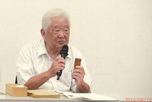 子規の漢詩を「遊びの」観点から読み解く嶌川常任理事  写真:髙村会員