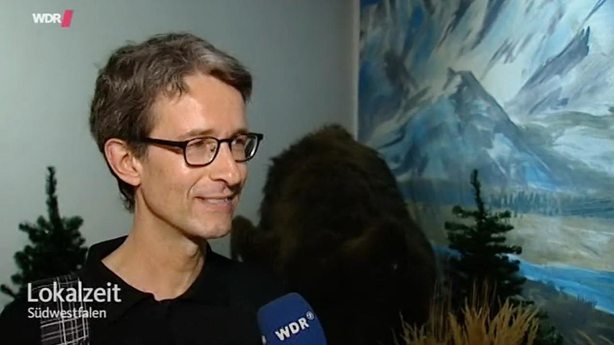 Klassenlehrer Dr. Gerhard Wagner beim Interview