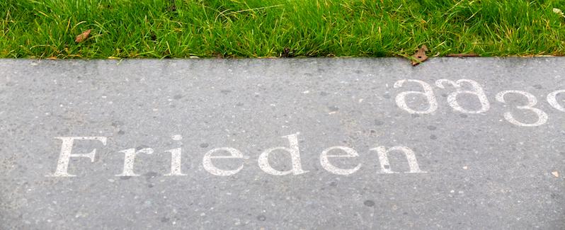 Vor dem Friedenspalast, Den Haag