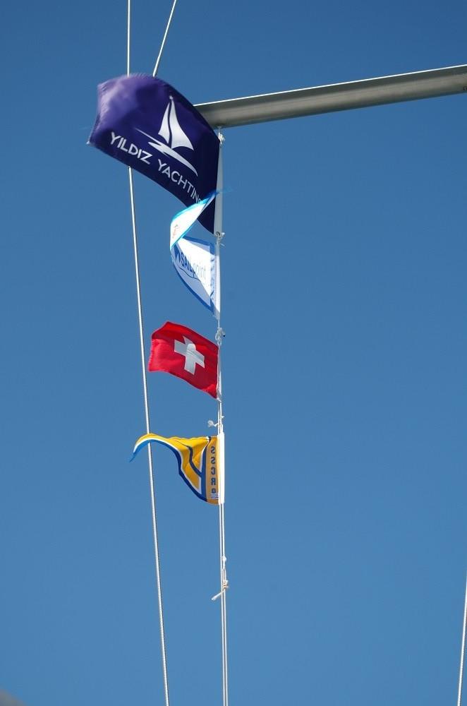 Flaggen sind gesetzt