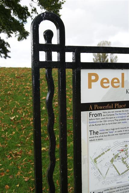 Peel Park interpretative sign