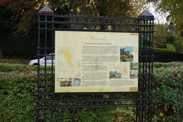 Westerton Garden suburb sign