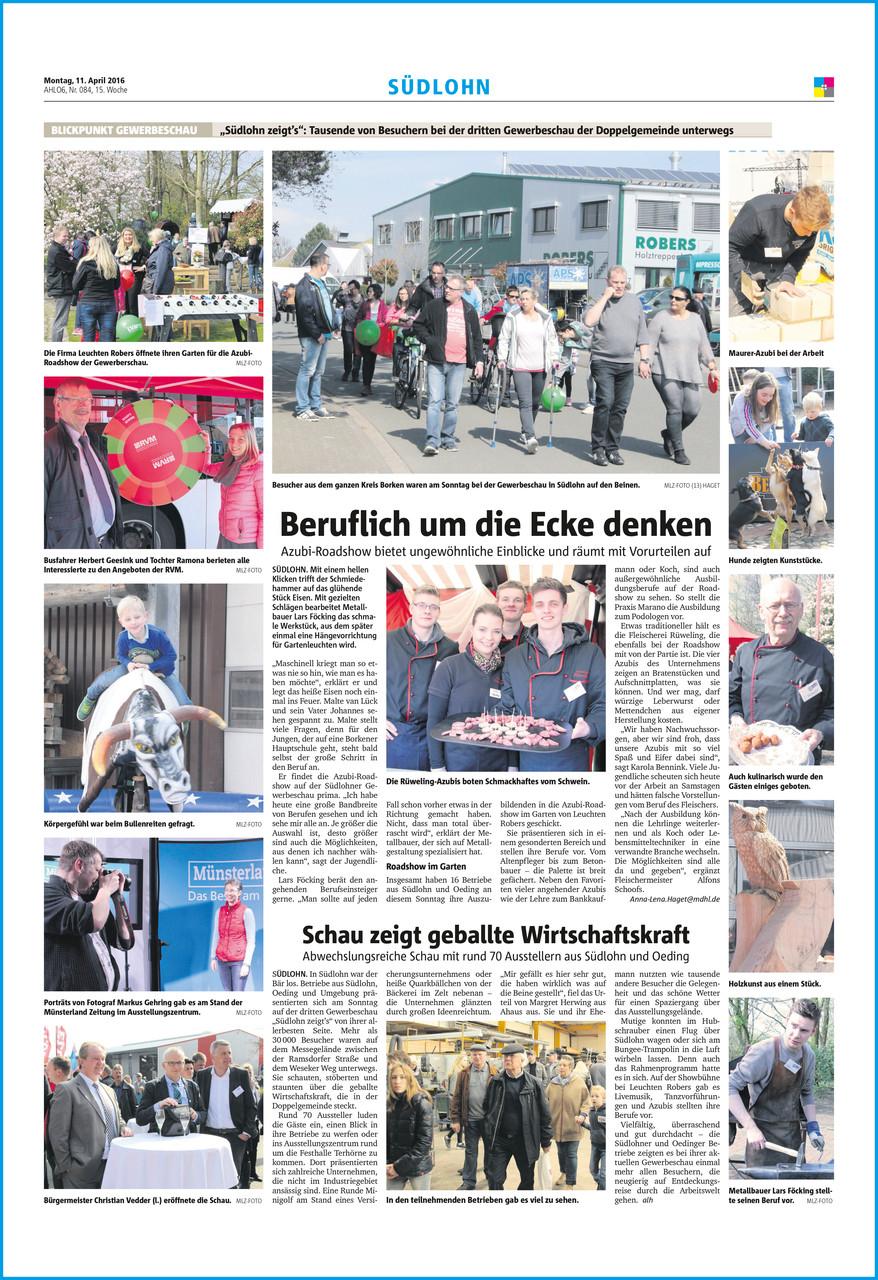 Münsterland Zeitung • Montag, 11. April 2016