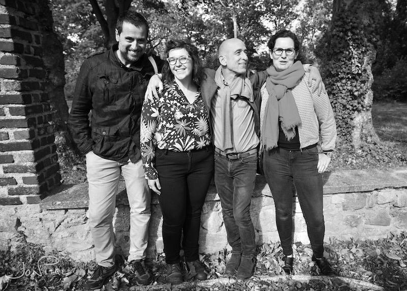 Israel Ariño, Morgane Britscher, Margaret Dearing et Fred Boucher directeur du festival les Photaumnales - Association Diaphane ©Beauvaizine
