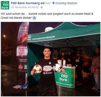 Fußball Freestyler bei PSD Bank Werbekampagne