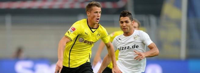Cristiano-Ronaldo-Lookalike Saki aus Mülheim an der Ruhr nutzte einen Patzer von Sven Bender zum zwischenzeitlichen 1:1