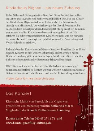 Postkarte für die Benita Quadflieg Stiftung