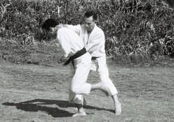 Uehara Seikichi and Onaga Taketoshi, Cape Manzamo, Okinawa, 1963