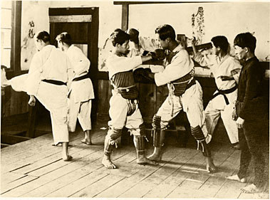 The Karate Club of Toyo University (Shihan: Motobu Choki), 1937
