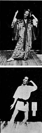 渡嘉敷守良の「諸屯」の足使いの解説写真。女踊りも戦前まではもっぱら男性が踊った。