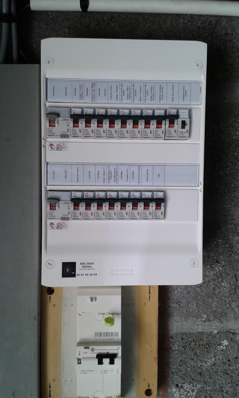 Nouveau tableau électrique selon les nouvelles normes en vigueur ( NF C15-100 )