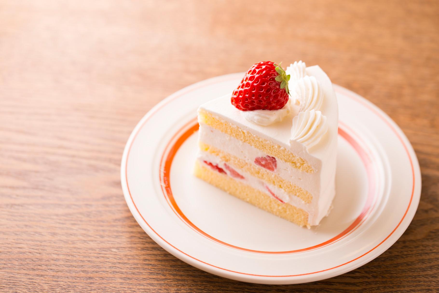みんな大好き ショートケーキも グランドメニューになりました♪ 使用するフルーツは 季節毎に変更いたします。