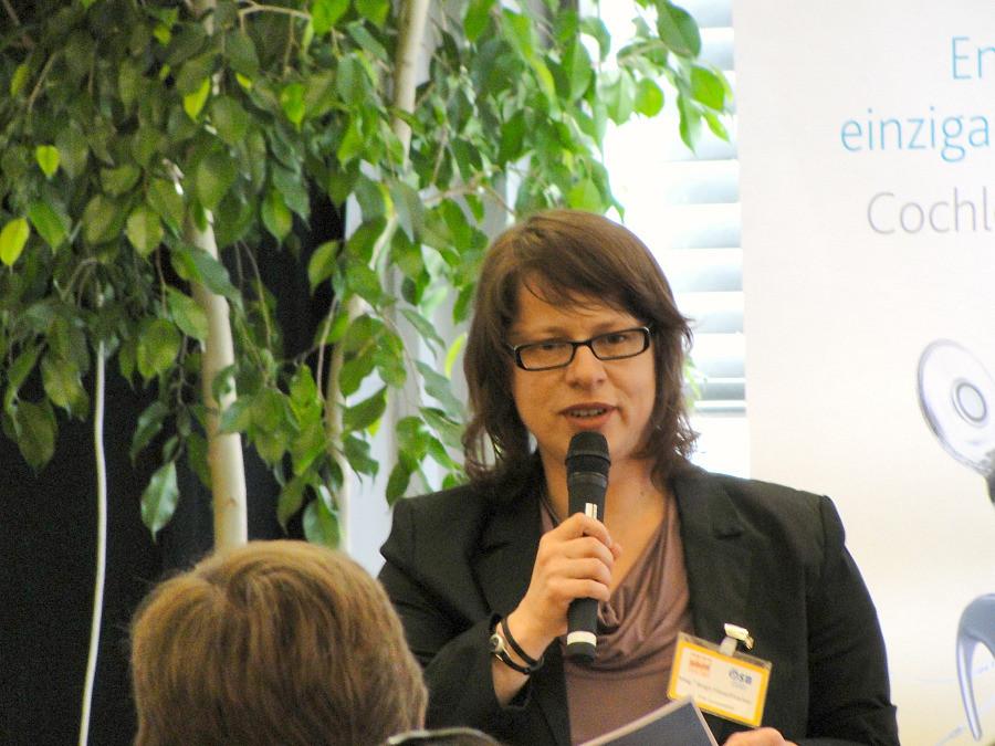 Moderatorin vom Symposium Mag. Birgit Fleischhacker
