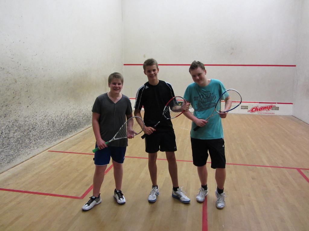 Yannik Böttger, Lasse Thiele und Marcel Rathje