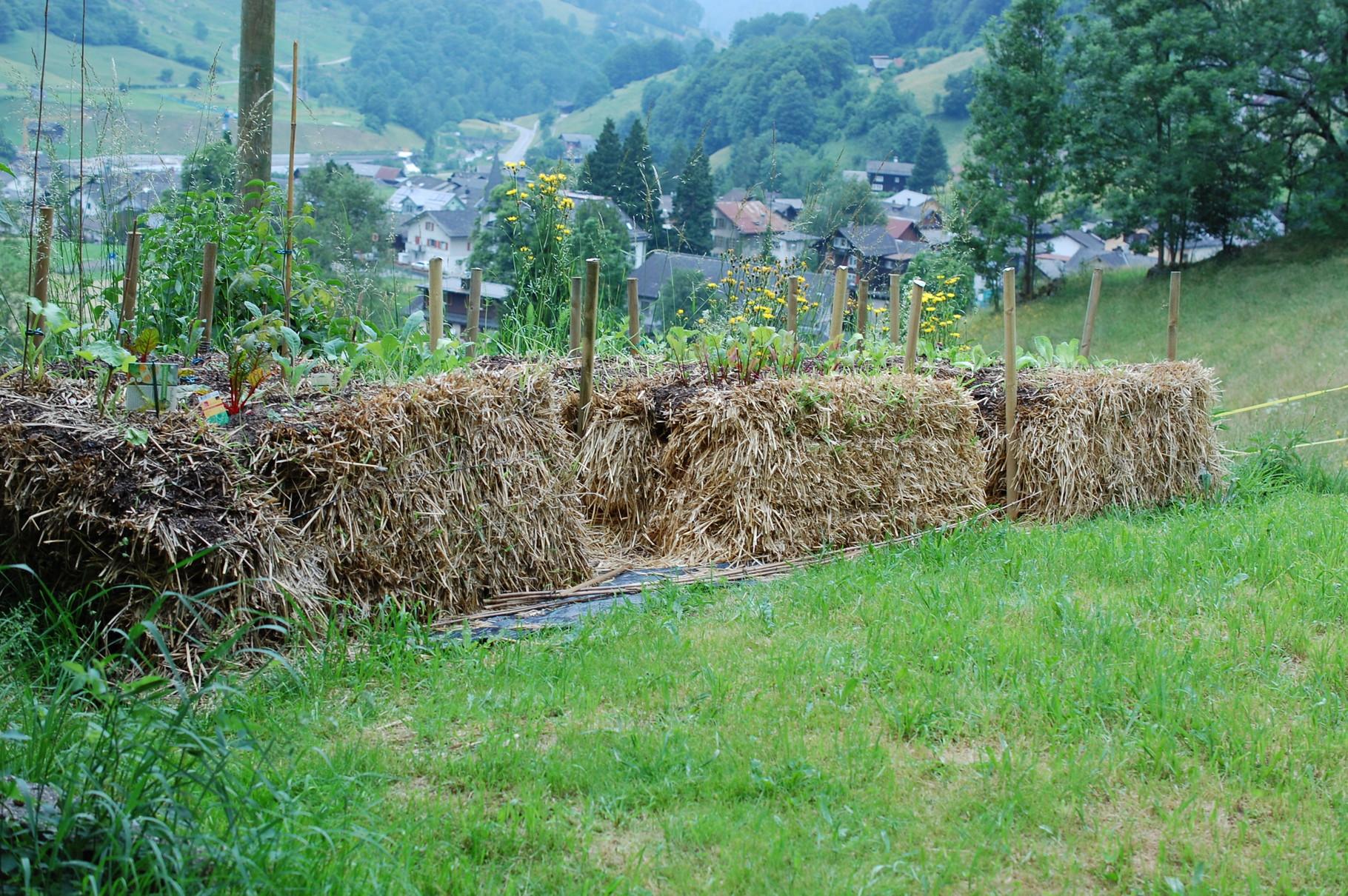 Nachhaltiger Garten- und Landbau .... Strohballengärtnern
