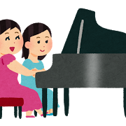 神戸の音叉ヒーリング講座受講生の趣味のピアノを弾いているイメージ図