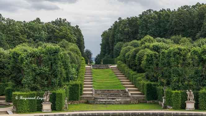 "Barockgarten Großsedlitz - Bildmitte: ""Große Waldkaskade"""