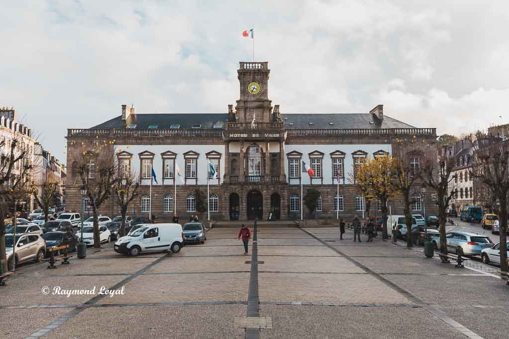 morlaix brittany france town hall