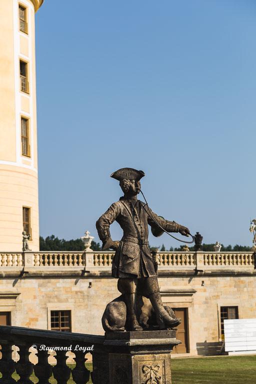 sculpture at moritzburg palace dresden