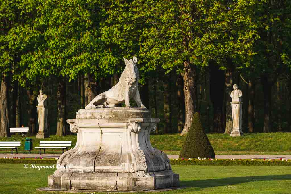 nordkirchen palace terrace garden boar sculpture on pedestal