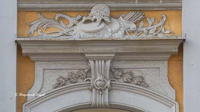 schloss augustusburg risalit suedseite balkon ornament