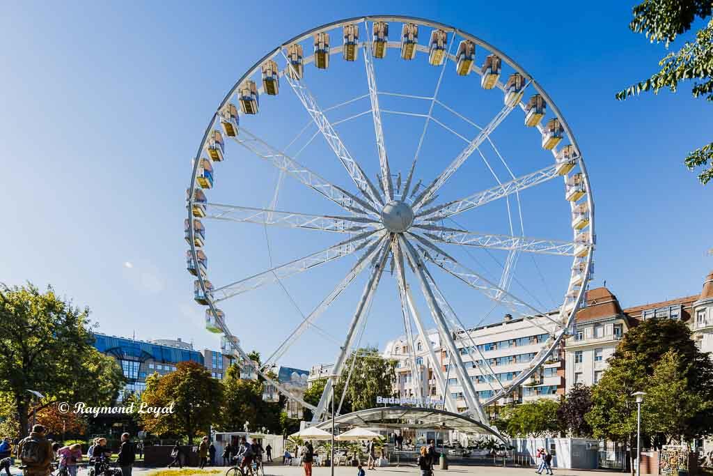 budapest city centre with big wheel budapest eye