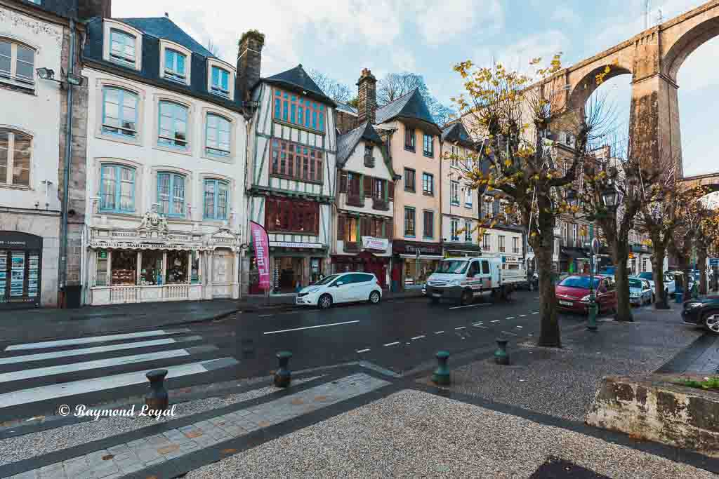 morlaix brittany france old town