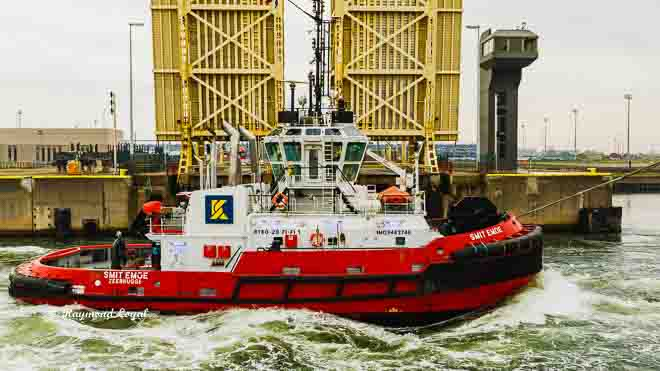 seehafen schleuse schleper tug boat zeebrugge