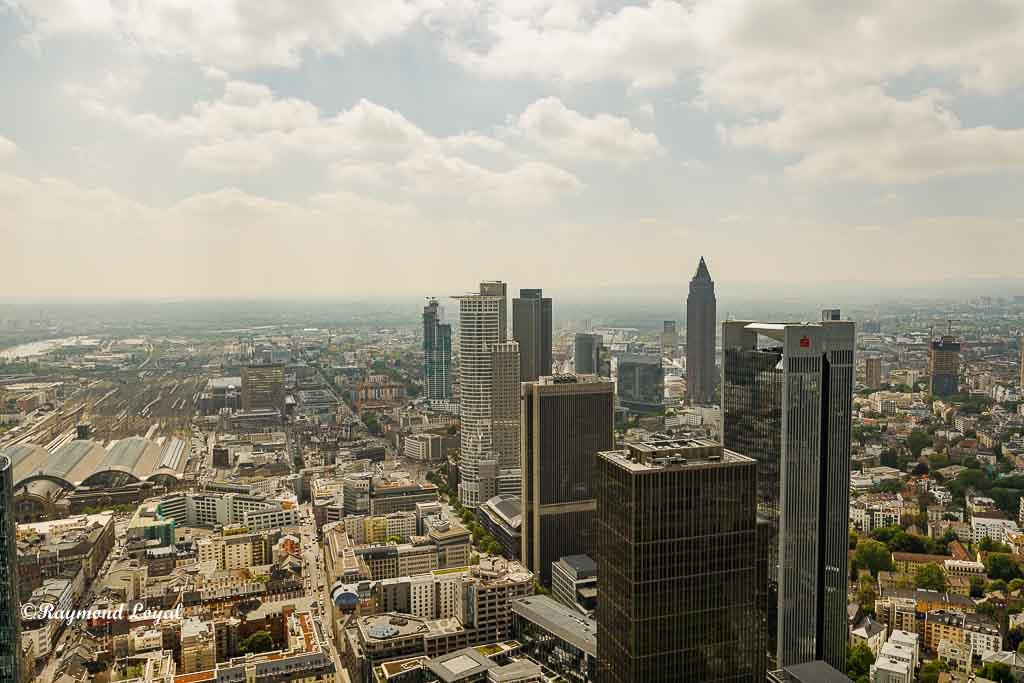 frankfurt main aerial view
