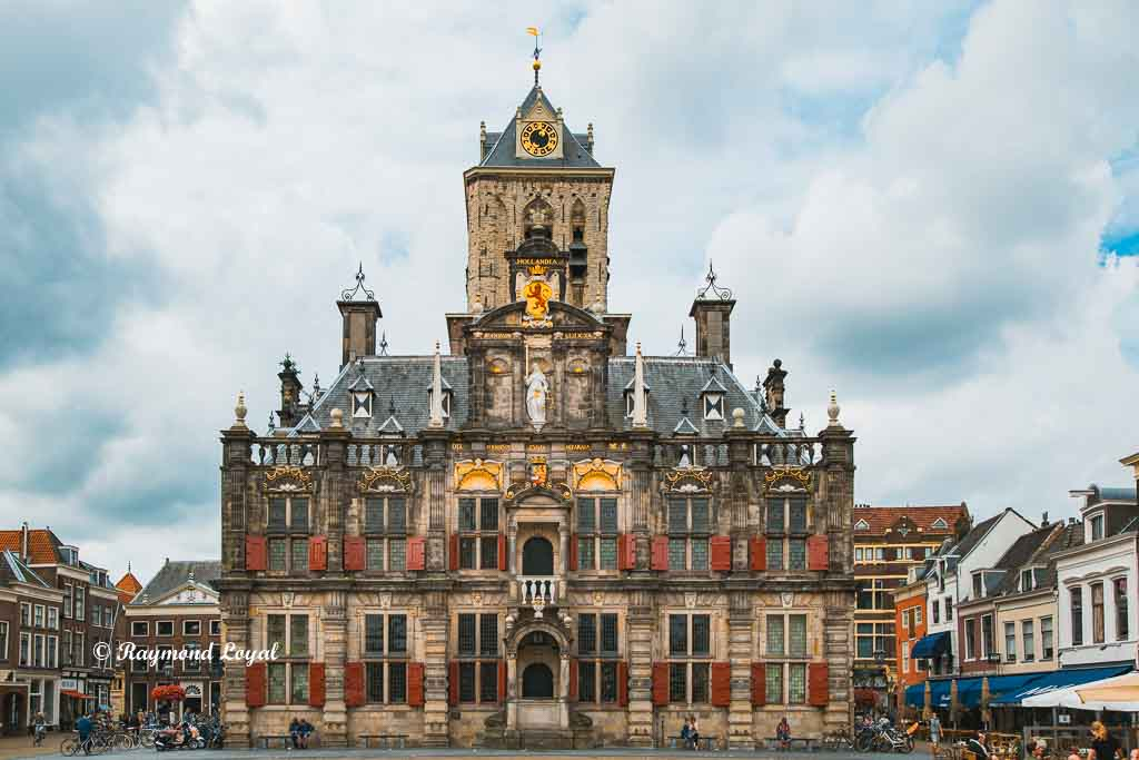 delft old town image