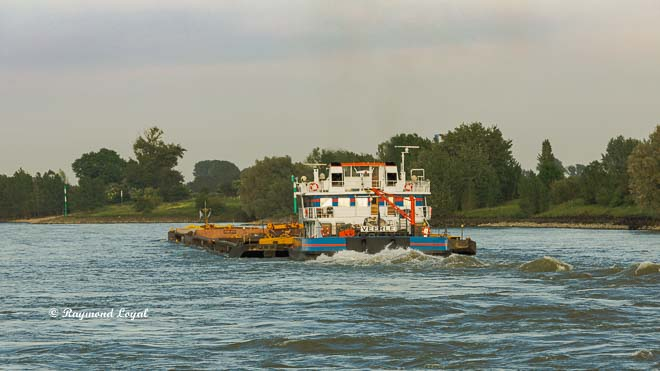 pusher boat on the river Rhine