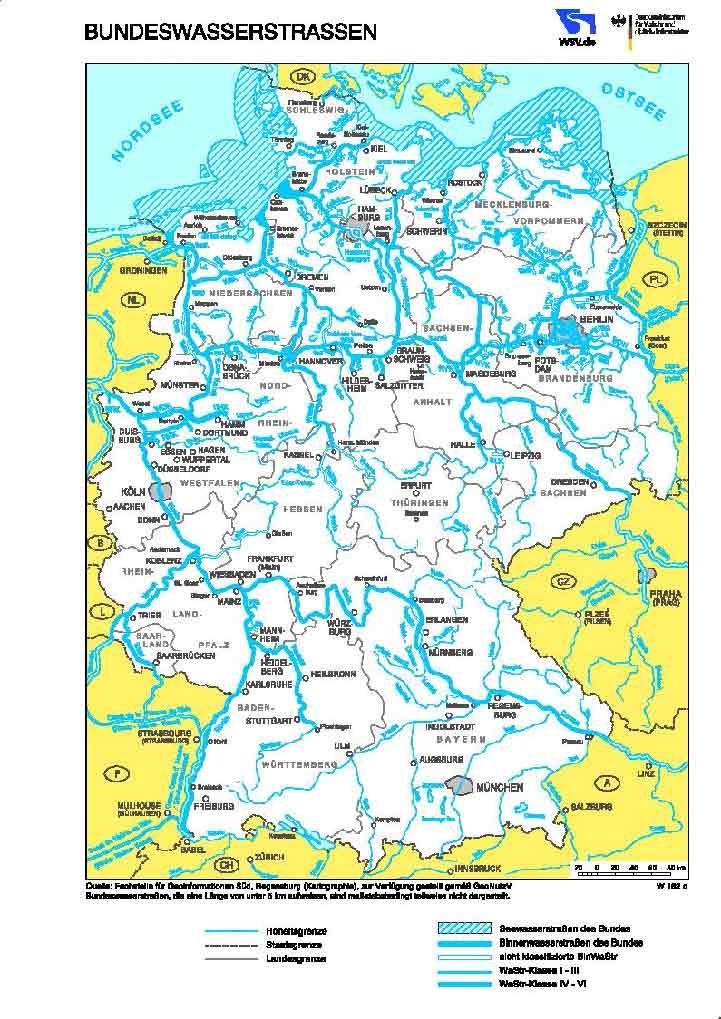 karte bundeswasserstrassen