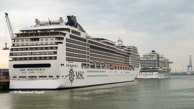 msc magnifica seaport of zeebrugge cruise terminal