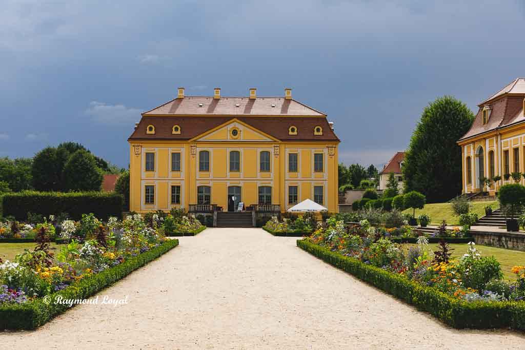 baroque garden in gross-sedlitz saxony