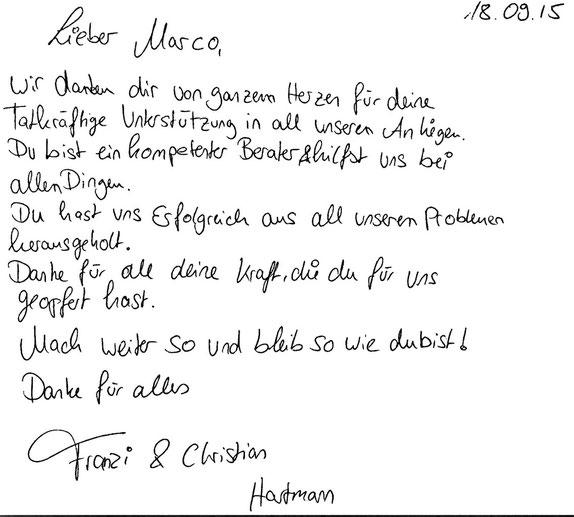 Hamburg, den 18.09.2014  F. Hartmann, Veranstaltungstechnikerin und Schauspielerin C. Hartmann, Soldat