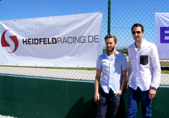 Nick (Ex F1 Fahrer) & SVEN HEIDFELD der CEO der Firma