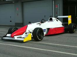 Formel Wagen Co Pilot fahrt Formel Doppelsitzer