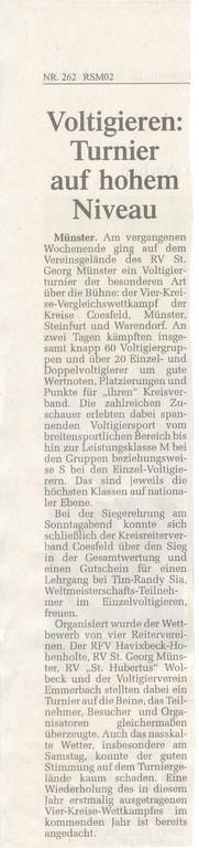 Zeitungsartikel WN vom 10.11.2010