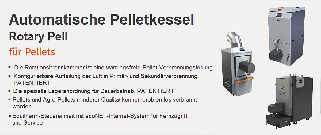 Automatische Pelletkessel Blaze Harmony Rotary Pell Compact, Industrial, Hotair