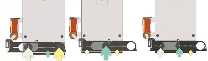 Luftzufuhr Regelung in drei Zonen Blaze Harmony Holzvergasrkessel