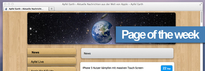 Apfel Earth (www.apfelearth.com) - Page of the week!