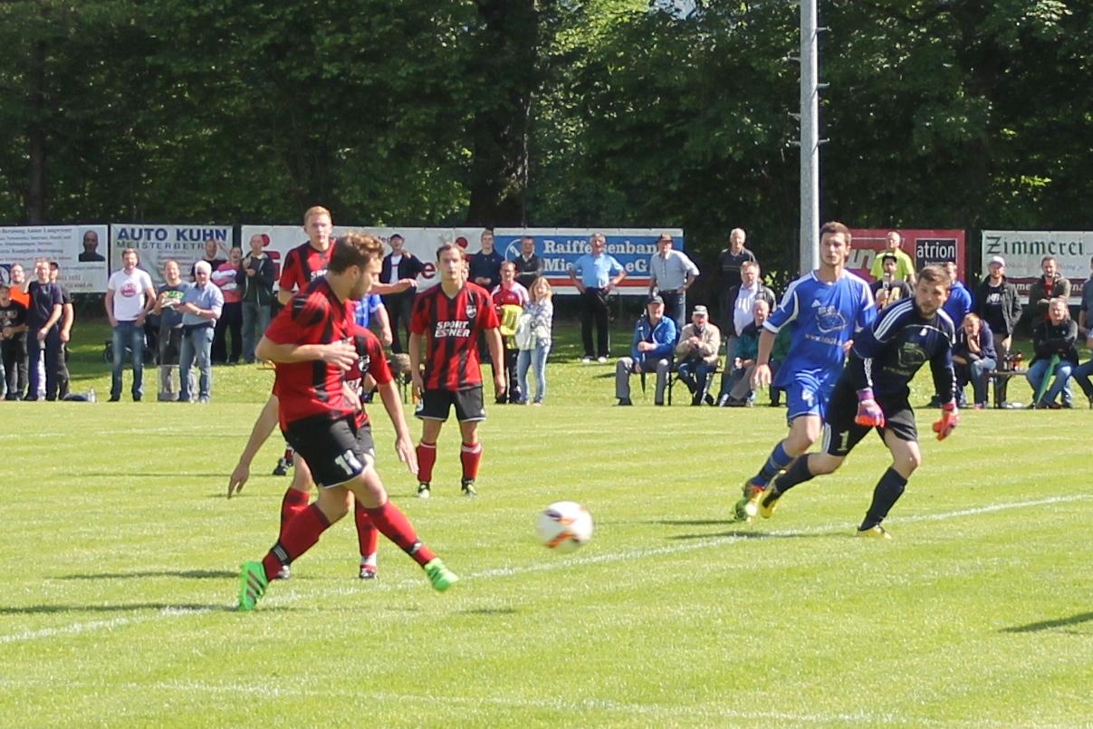 Tor in der Relegation gegen TSV Irschenberg. Juni 2016