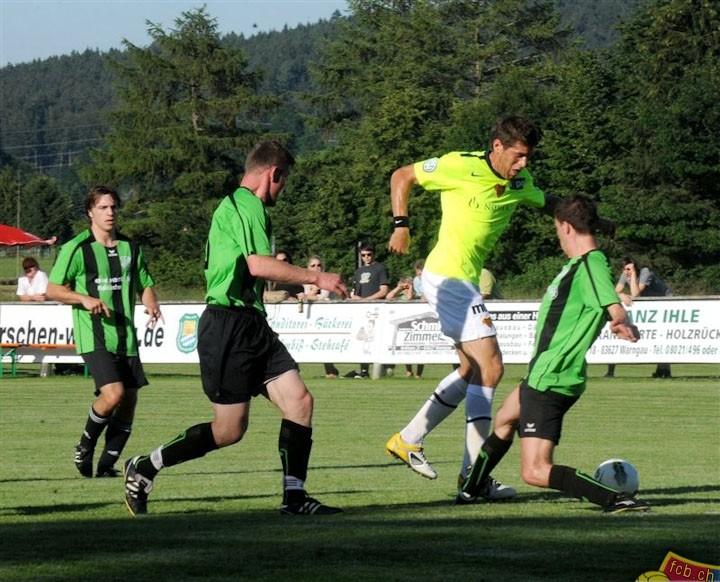 Mit der Landkreisauswahl gegen den FC Basel. Sommer 2012